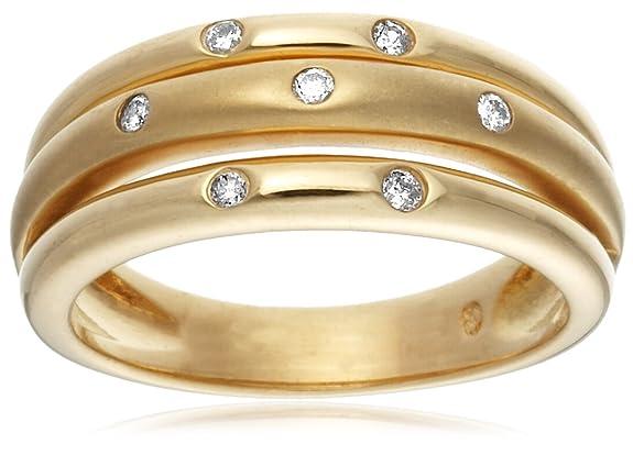 18ct Yellow Gold AMR44789 Ladies 0.10ct Diamond Band Ring