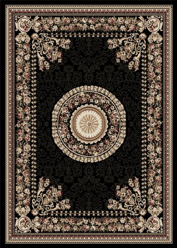 "Home Dynamix Area Rugs: Optimum Rug: 11023-450 Black: 7'8""x10'4"" Rectangle"