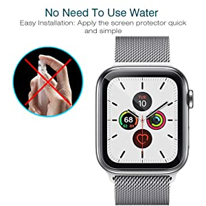 LK [6 Pack] Screen Protector for Apple Watch Series 5 40mm Flexible TPU Film Max Coverage Anti-Scratch HD Clear Bubble Free