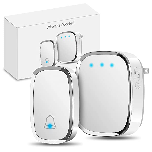 1byone Easy Chime Plug-in Wireless Doorbell Operating at 500 feet CD Quality...