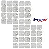 Syrtenty TENS Unit Electrodes Pads 1.5x1.5 40 Pcs Replacement Pads Electrode Patches for Electrotherapy