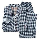 (セシール)cecile 綿100% 2重ガーゼ シャツパジャマ NW-205 820 チェックD 3L