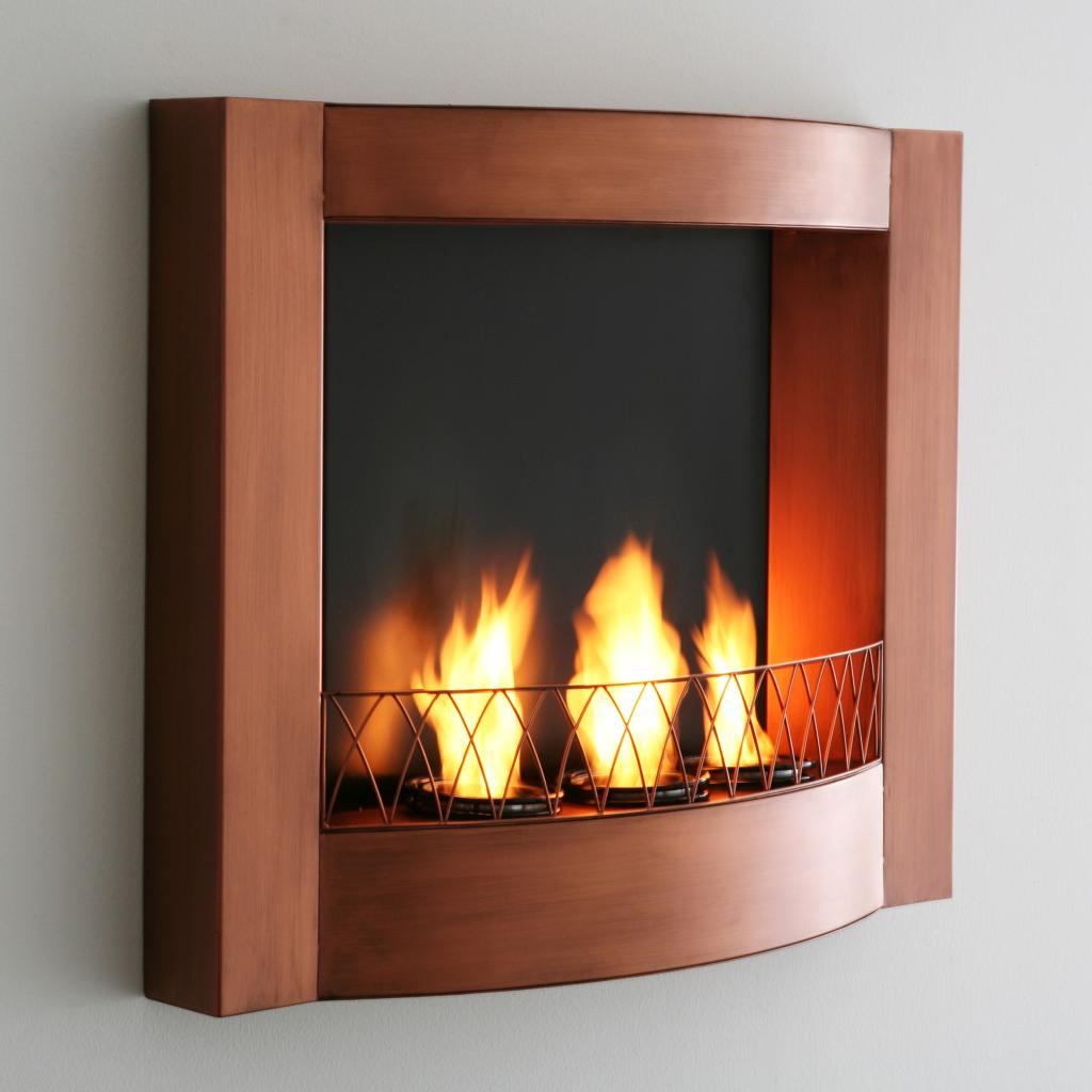 Sei Copper Wall Mountable Gel Fuel Fireplace Southern Enterprises Fireplace