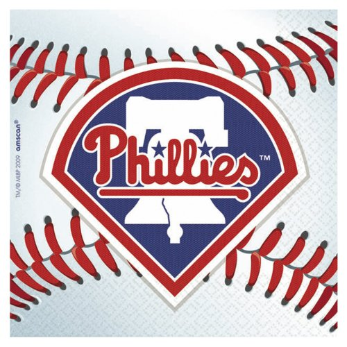 Philadelphia Phillies Beverage Napkins - 36 Ct at Amazon.com