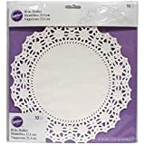 Wilton 2104-90210 10 Count Grease Proof Doilies, 10-Inch, White