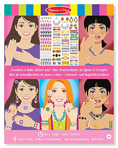 Melissa & Doug Jewellery and Nails Sticker Pad - 1