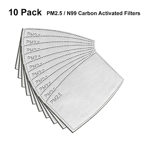 ??MChoice??10x PM2.5 Activated Carbon Filter Replaceable Anti Haze Filter Paper for Mask