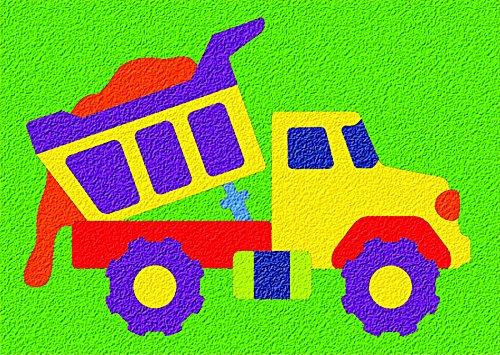 Lauri Crepe Rubber Puzzle - Dump Truck - 1