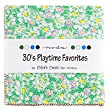"""30's Playtime Favorites Moda Charm Pack By Chloe's Closet; 42 - 5"""" Quilt Squares"""