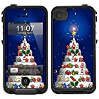 Skin Decal for LifeProof iPhone 4 Case - Christmas Cake Art