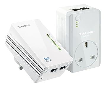 TP-Link tl-wpa4220kit AV500Powerline 300m Booster/Hotspot Wi-Fi/avec 2 ports Ethernet, Kit de démarrage/Lot de 2(Configuration facile, Wi-Fi Clone pour Smartphone/Tablette/Ordinateur portable) Plus rapide (Wi-Fi N300) AV600