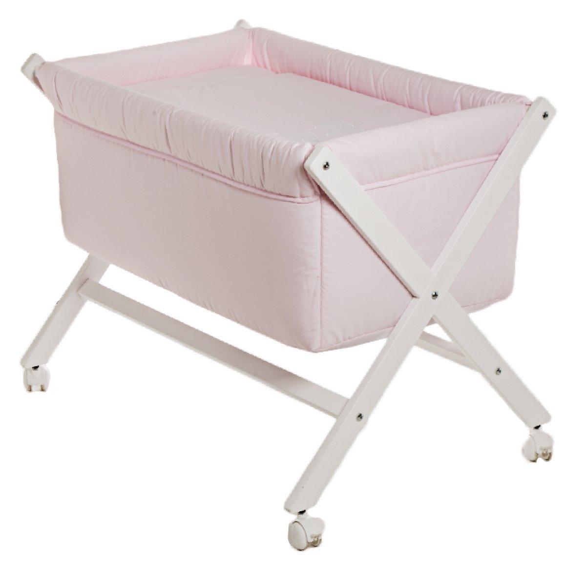 Cambrass 36342 Babybett aus Holz X-Form, 55 x 87 x 74 cm, classic rosa günstig online kaufen