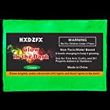 HXDZFX Glow in The Dark Pigment Powder 2 Pack 0.53oz UV Powder Safe Non-Toxic for Slime,Nails,Epoxy Resin,Acrylic Paint,Halloween,Fine Art and DIY Crafts (Green) (Color: Green)