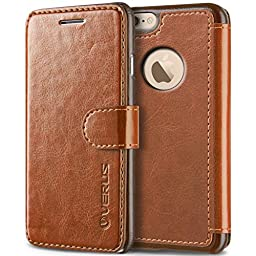 iPhone 6S Case, Verus [Layered Dandy][Brown] - [Premium Leather Wallet][Slim Fit][Card Slot] For Apple iPhone 6 6S 4.7