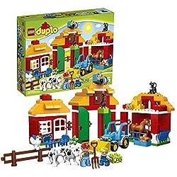 Lego Duplo Year 2014 Preschool Building Toy Set 10525 - BIG FARM with a Barn, Farmhouse with Redesi