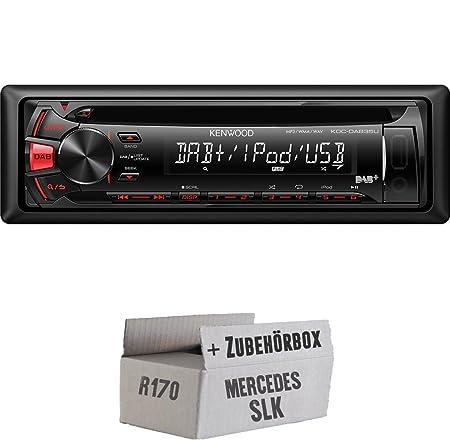 Mercedes SLK R170-Kenwood-dab35u-Kit de montage autoradio CD/MP3/USB avec DAB -