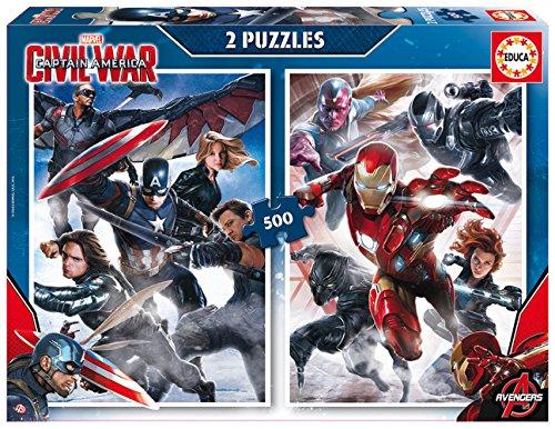 Educa 16702 - Puzzle 2 x 500 Captain America: Civil War