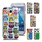 Ganvol Owl TPU Silicone Gel Case Cover for Samsung Galaxy S4 Mini i9190 (2#)
