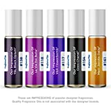 Women's Top 5 Perfume Oil Impressions (Generic Versions of Designer Fragrance) Sampler Gift Set of 5 10.35ml Roll-ons (Tamaño: 10.35ml Roll-On)