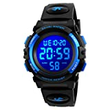 Kids Watch, Boys Sports Digital Waterproof Led Watches with Alarm Wrist Watches for Boy Girls Children (Color: 7 Colour Blue)