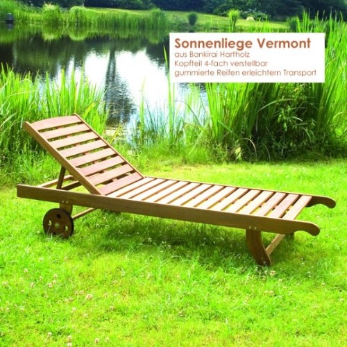 g nstige sonnenliege holz vermont sunlounger liegestuhl. Black Bedroom Furniture Sets. Home Design Ideas