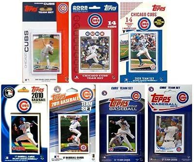 MLB Chicago Cubs 7-Different Licensed Trading Card Team Set
