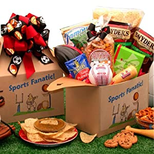 The Sports Fanatic Gourmet Food and Snacks Care Package