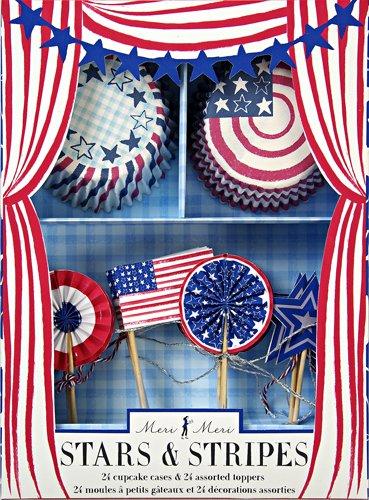 Meri Meri Stars And Stripes Patriotic Cupcake Kit
