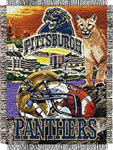 Buy NCAA Pittsburgh Panthers 48-Inch-by-60-Inch Acrylic Tapestry Throw by Northwest