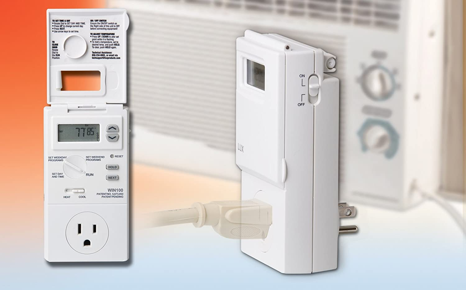 #C02D0C Lux WIN100 Heating & Cooling Programmable Outlet  Highest Rated 12966 Lux Air Conditioning img with 1500x936 px on helpvideos.info - Air Conditioners, Air Coolers and more