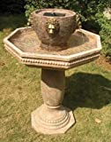 Smart Solar 34404RM1 Milano Lion Head Estate Fountain with Solar on Demand
