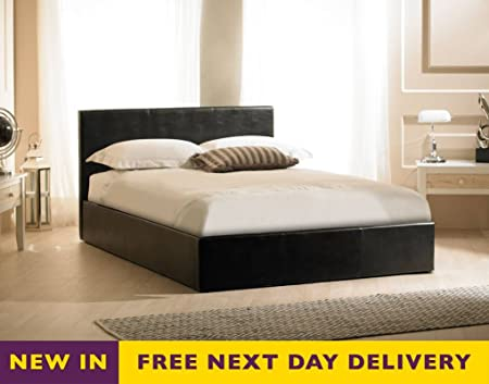 Emporia Beds Madrid 6ft Black Faux Leather Storage Bed