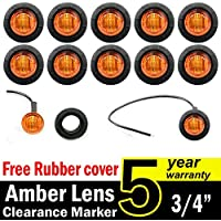 "10 Pcs TMH 3/4"" Inch Mount Amber LED Clearance Markers Bullet Marker Lights, Side Marker Lights, Led Marker Lights..."