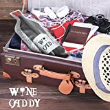 Wine Caddy 3 Pack Reusable Travel Wine Skin Bottle Protector Leak Proof