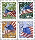 USPS Forever Stamps Four Flags Booklet of 20 Stamps
