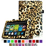 Fintie Amazon All New Kindle Fire HD 7 inch Slim Fit Folio Case with Auto Sleep / Wake Feature (will only fit All New Kindle Fire HD 7 2013 Model) - Leopard Brown