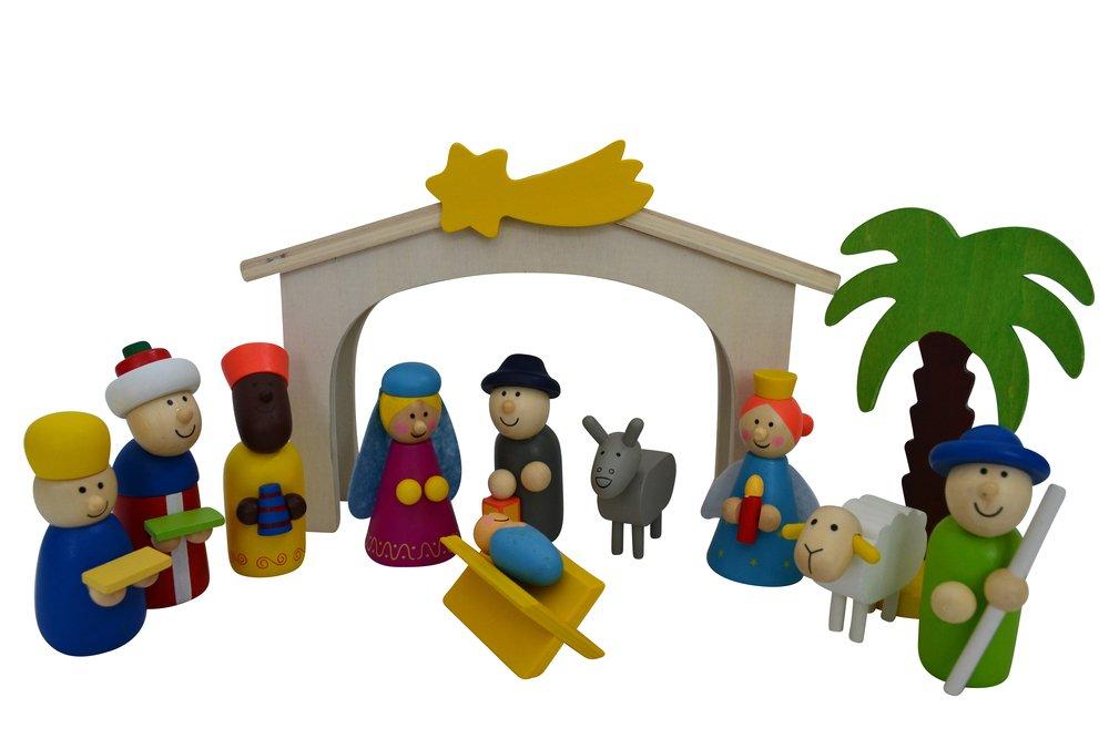 Spielkrippe mit hochwertigen Figuren aus