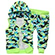 Afoxsos Men\'s Hoodie and Pants Set Size 2XL Green