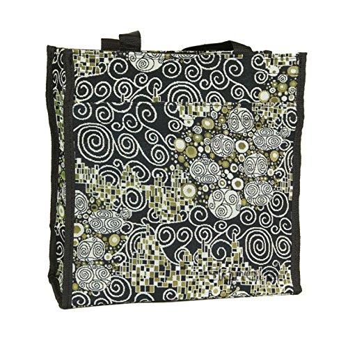 Borsa donna Signare in tessuto stile arazzo Shopping alla moda Klimt (Il bacio)