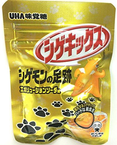 味覚糖   シゲキックス シゲモンの足跡エボリューションソーダ  20G×10袋