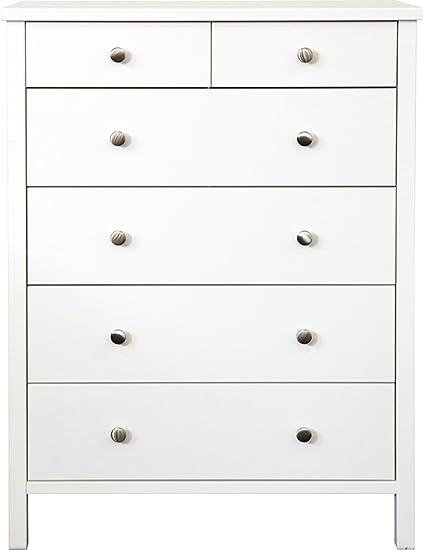 Commode coloris blanc en MDF - Dim : 105.8 x 80.4 x 41 cm -PEGANE-