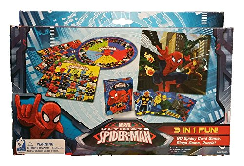 Spiderman 3 Game Pack [Toy] Checkers Tic Tac Toe & Bingo