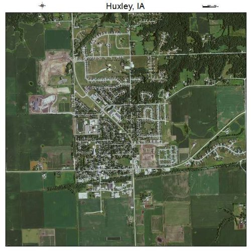 Aerial Photography Map of Huxley, Iowa
