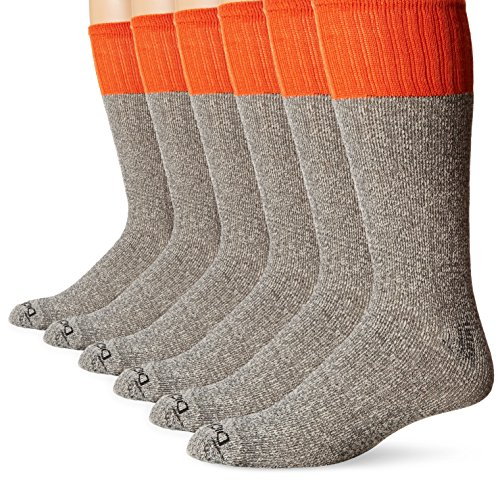 Dickies Men's 5-Pack Cotton Boot Crew Socks,