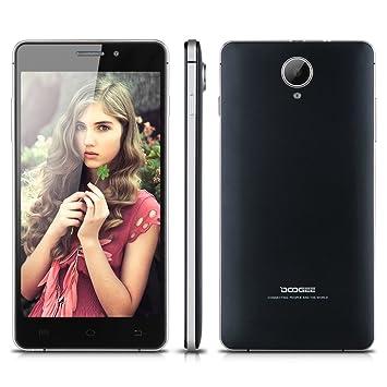 "5,0"" IPS OGS QHD Ecran DOOGEE F2 4G Smartphone Android 4.4 Mémoire 8Go ROM 1Go RAM Quad Core MTK6732 caméra 8MP et 2MP Dual SIM WIFI GPS Bluetooth 3 Finger Screenshot Smart Wake OTA OTG Fonction-Noir-pour opérateur fran?ais/belgi"