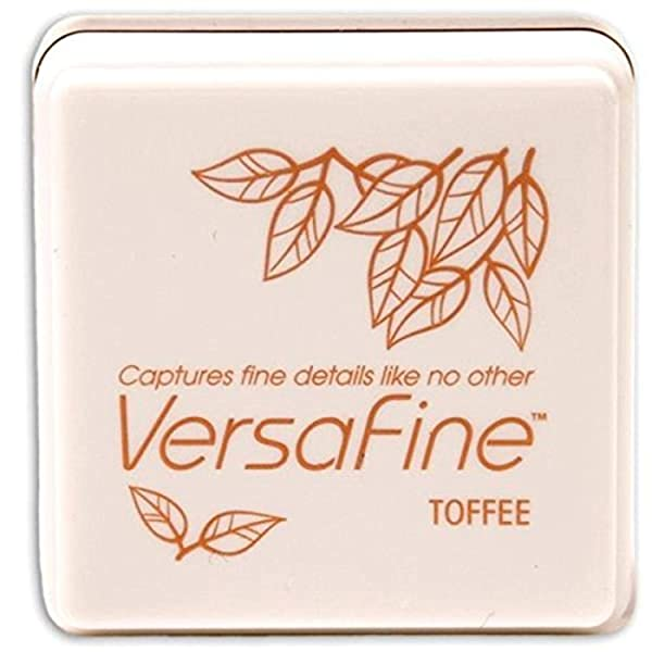 Tsukineko Small-Size VersaFine Instant Dry Pigment Ink, Toffee (Color: Toffee)
