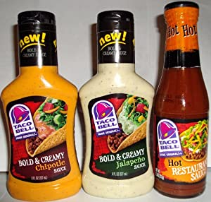Taco Bell Sauces Variety Pack 3 Items from Taco Bell