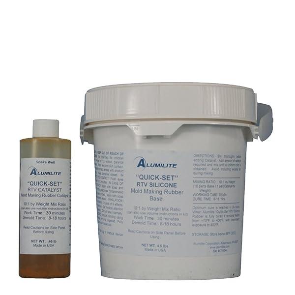 Alumilite Quick Set RTV Silicone Mold Making Rubber 5 lb (Color: Pink)
