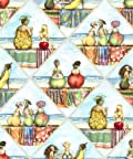 Elizabeth Studios Fruit Ladies Quilt Fabric Fat Quarter