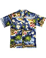 RJC Boy's Hibiscus Hawaiian Island Hawaiian Shirt